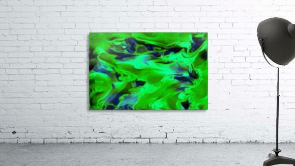 Gemphire - emerald green dark blue abstract swirls wall art