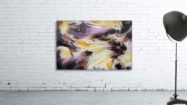 Cosmic - multicolored abstract swirl wall art