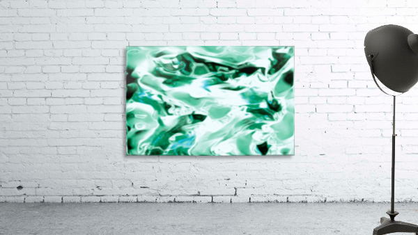 Icicles - turquoise white abstract swirls wall art