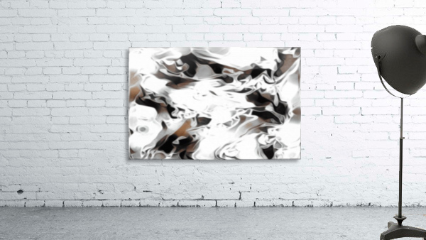 Brown Sugar & Coffee - brown grey white black swirls large abstract wall art