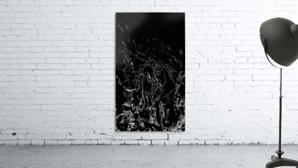 Infinite - black white gradient polygons swirls large abstract wall art