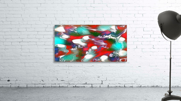 Cherries Limes & Blueberries - multicolor swirls and spots abstract wall art