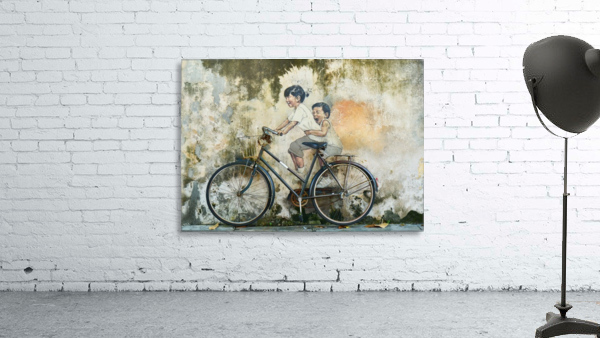 bicycle children graffiti art