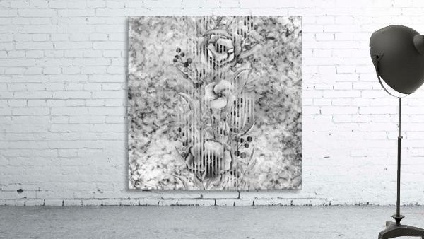 Shades of grey floral abstract