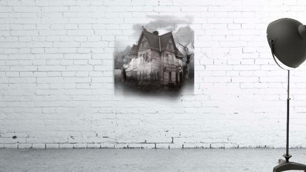 haunted night building