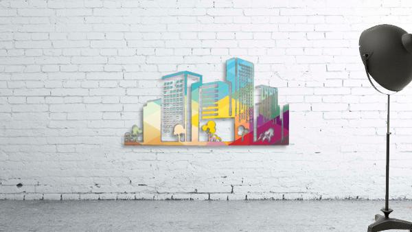 silhouette cityscape building icon color city