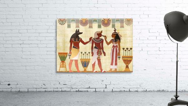 egyptian design man woman priest