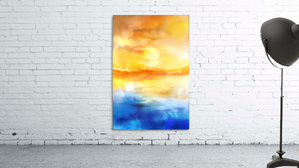 Abstract Warm Sunset I
