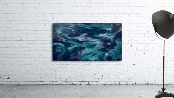 Magic Snake - turquoise blue purple swirls abstract wall art