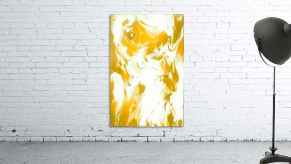 Abundant Aura - white gold swirls abstract wall art
