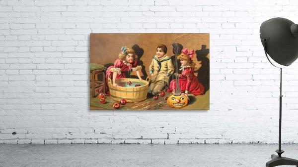 halloween vintage kids card happy