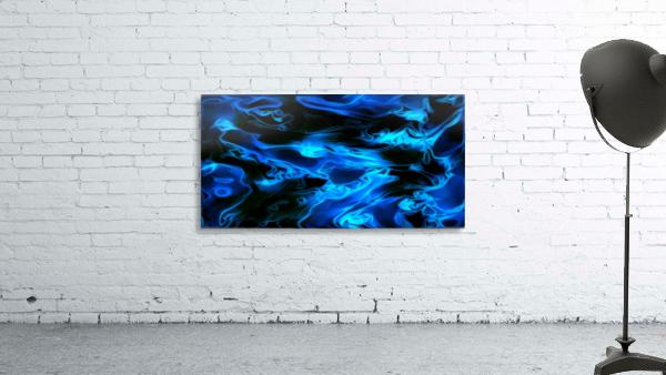 True Lightning - blue white black swirls abstract wall art