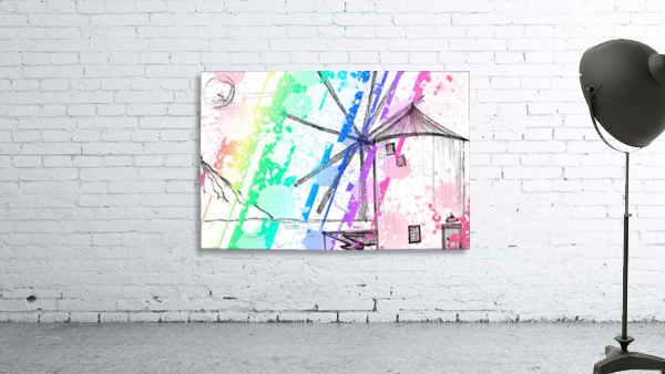 windmill art print multicolor 02