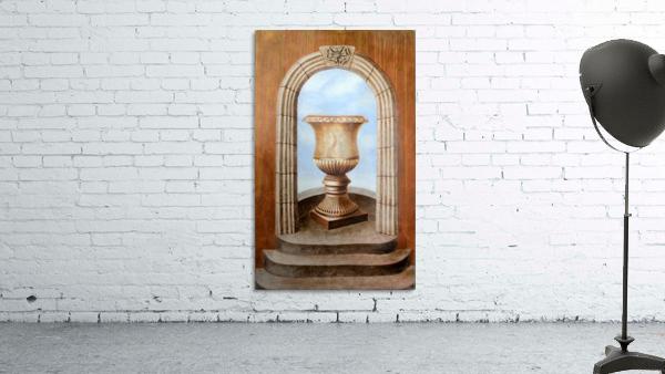 Marbled Urn Alcove - Trompe Loeil
