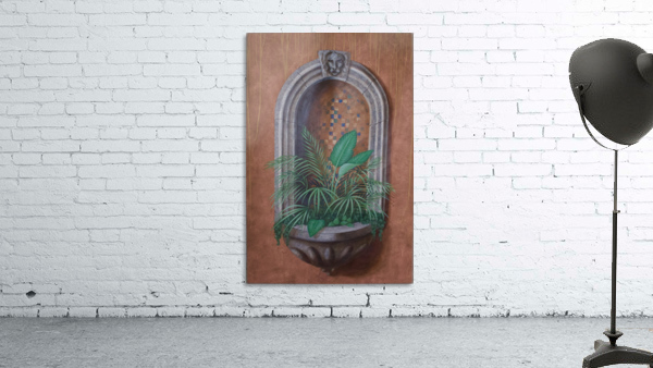 Wall Alcove with Plants - Trompe Loeil