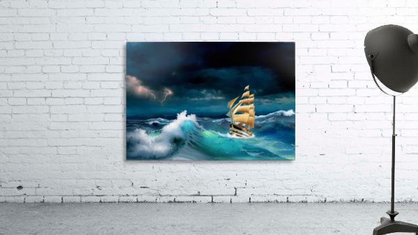 Hard way sailboat. sailing ship