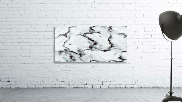 True White Marble - panoramic abstract wall art