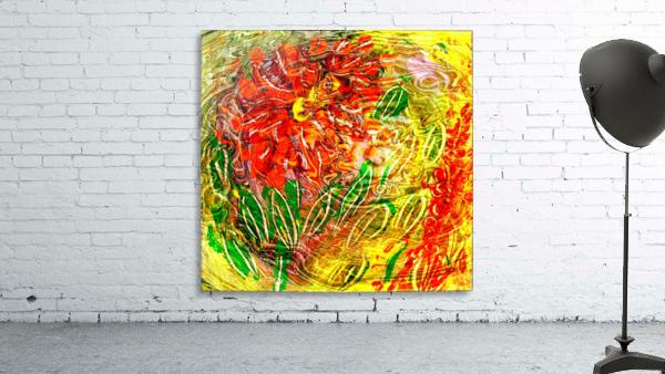 orange flower energy abstraction