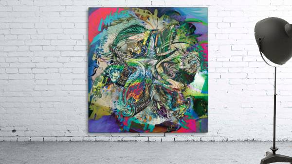 mottled multicolored abstract composition