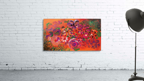 abstract colorful garden