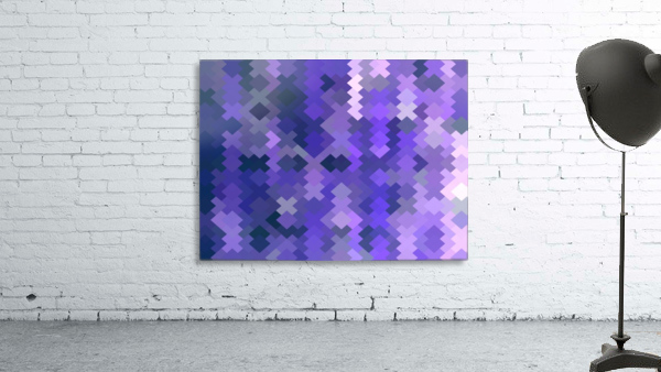 geometric square pixel pattern abstract in purple