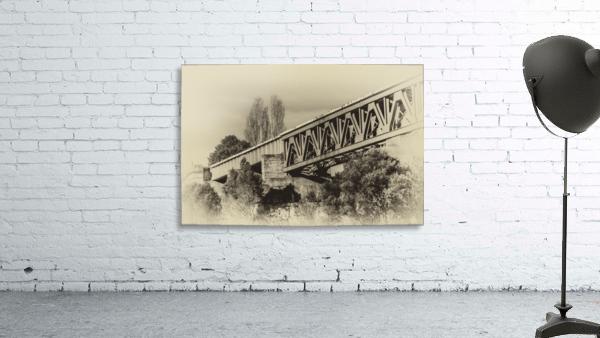 Railway Bridge in B&W