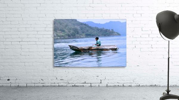 En Lago de Atitlan, Guatemala