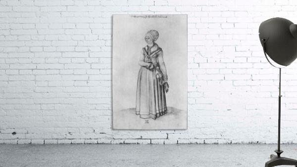 Nuremberg woman in house dress