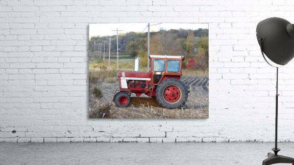 Tractor and Telephone Poles