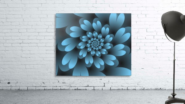 Blue Floral Satin Wallpaper