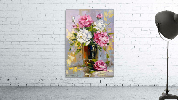 Bouquet of delicate roses
