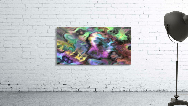 Dark Rainbow Marble multicolor abstract pattern wall art