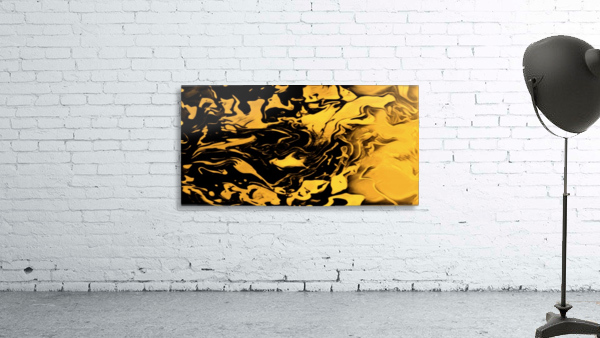 Richer fusion - gold and black gradient abstract wall art