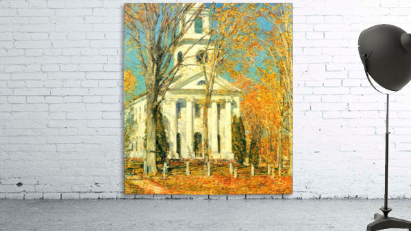 The Church of Old Lyme, Connecticut -2- by Hassam