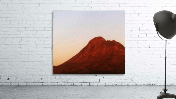 Red mountain side