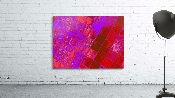 Red Psychedelic Squares 1