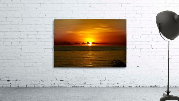 Sun rising on the Caribbean
