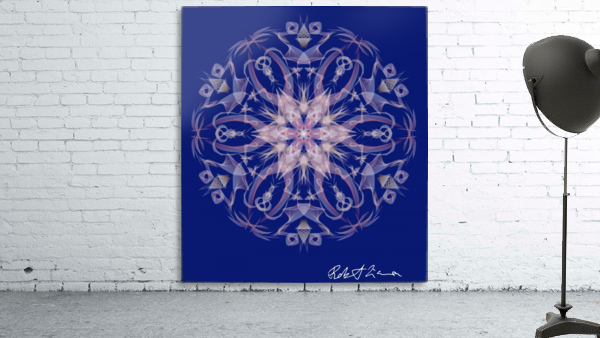 Limited Edition - Blue Graphic Art Healing Mandala 1005