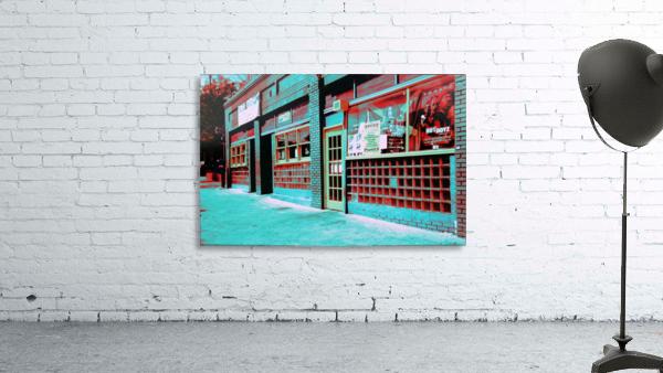 Atlanta Street Scene -- Turquoise