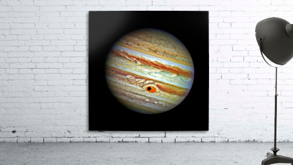 Jupiter with Ganymede Outer Space Image