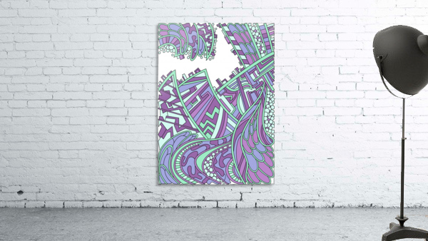 Wandering Abstract Line Art 01: Purple