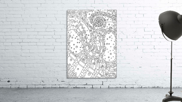 Wandering Abstract Line Art 02: Black & White