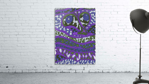 Wandering Abstract Line Art 03: Purple