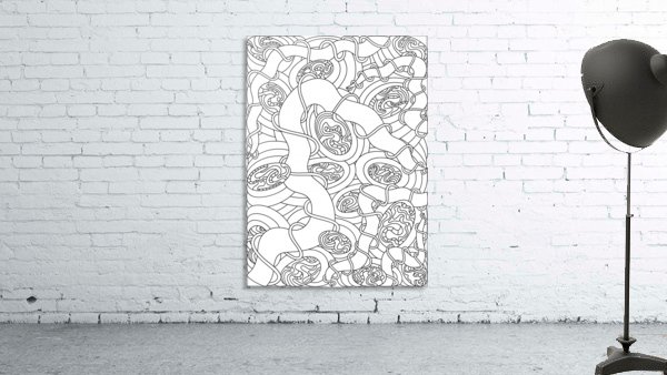 Wandering Abstract Line Art 04: Black & White
