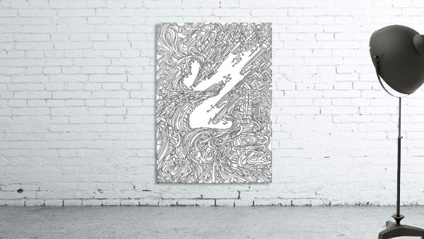 Wandering Abstract Line Art 05: Black & White