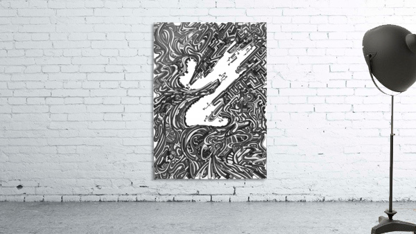 Wandering Abstract Line Art 05: Grayscale