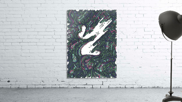 Wandering Abstract Line Art 05: Green