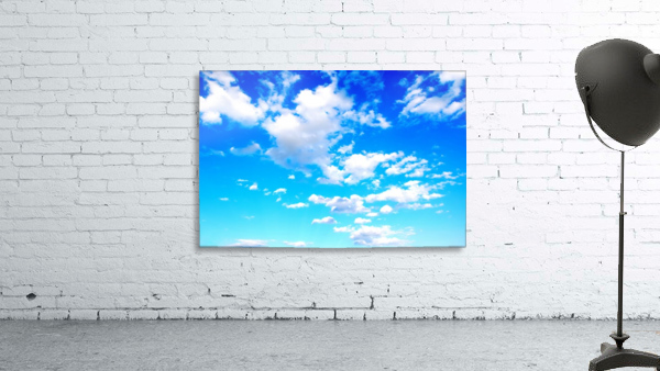 Bright Sky Blue with Clouds Colorful Scenic Background