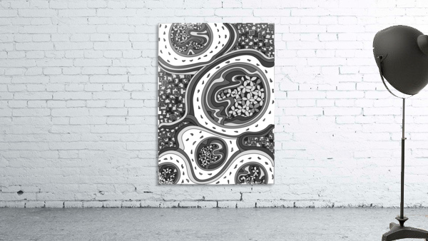 Wandering Abstract Line Art 06: Grayscale