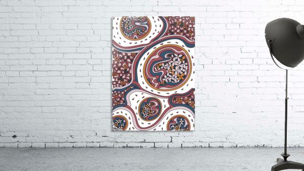 Wandering Abstract Line Art 06: Orange